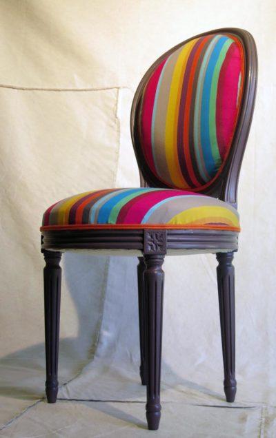 chaise m daillon lois xvi pop art atelier relook 39 art tapissier d corateur. Black Bedroom Furniture Sets. Home Design Ideas